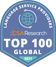 CSA Research Top 100 in World badge