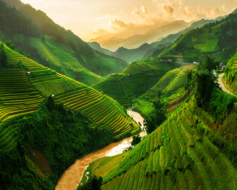 Landscape in east asia